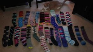 This pic doesn't even include my silly tights or my regular not-so-silly socks