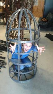 Me in the cage