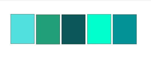 Aqua Teal palette