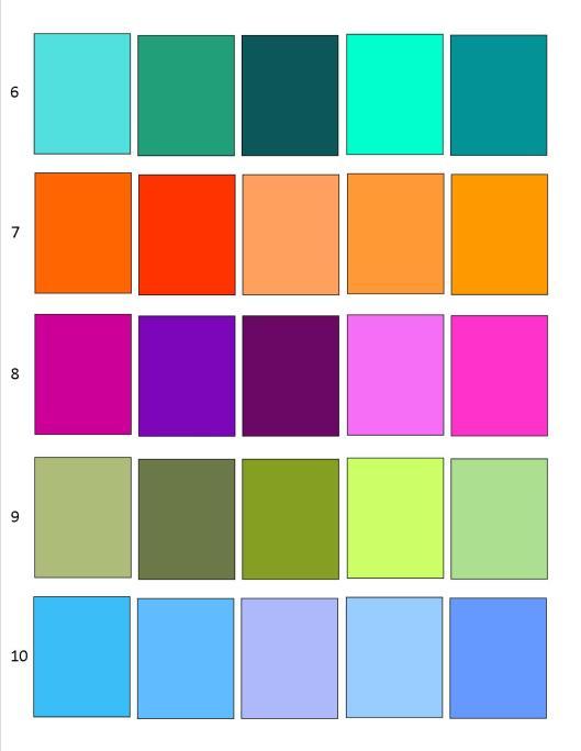 Color Palettes 1