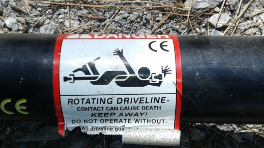 drive shaft warning