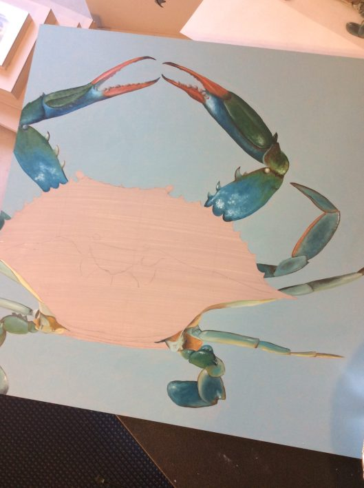 crab with legs finished