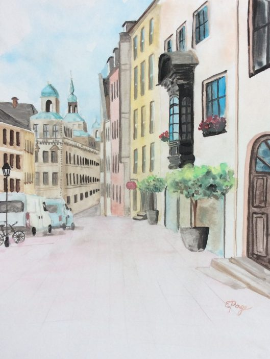 Nuremberg watercolor