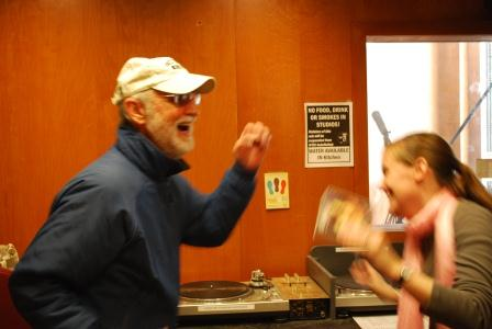 me and dad dancing at WTJU