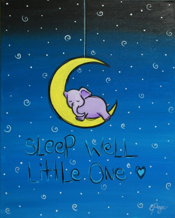 Sleep Well - Purple Elephant