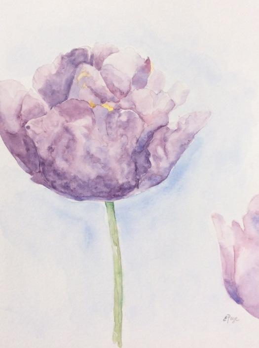 Monet's Garden tulip painting