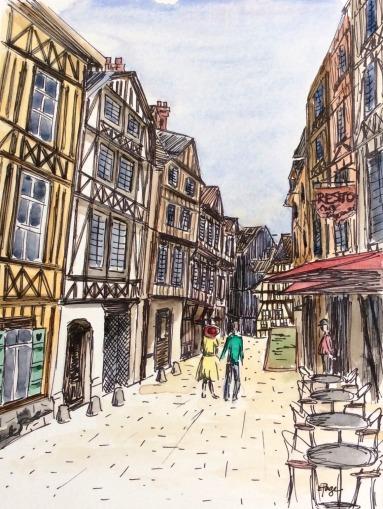 Painting - Rouen 2