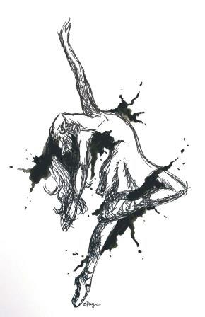 Dancer black and white tattoo idea_compressed