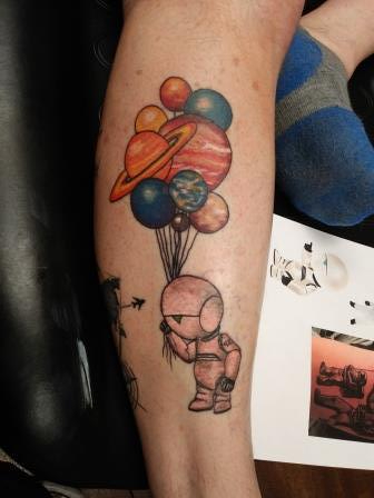 Brian Kirkpatrick - marvin robot with planet balloons
