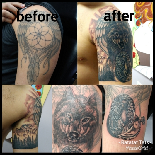 cover up dream catcher to wolf - Mason Whitaker